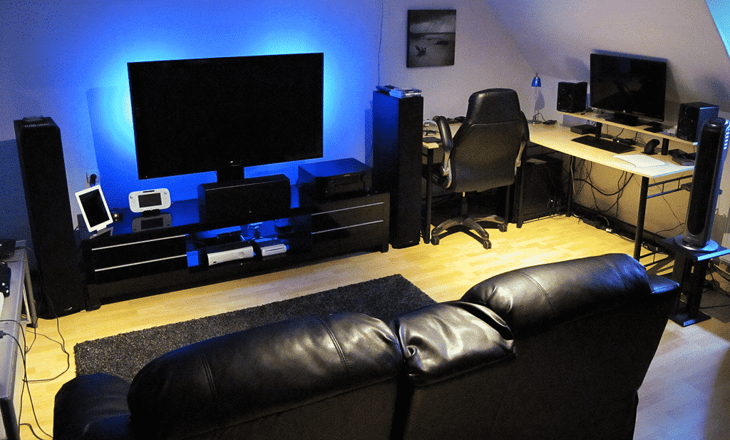 Game room inrichten dit heb je zeker nodig gamestoel com for Ideas for living room setup