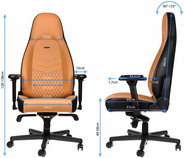 beste gamestoel noblechairs icon review