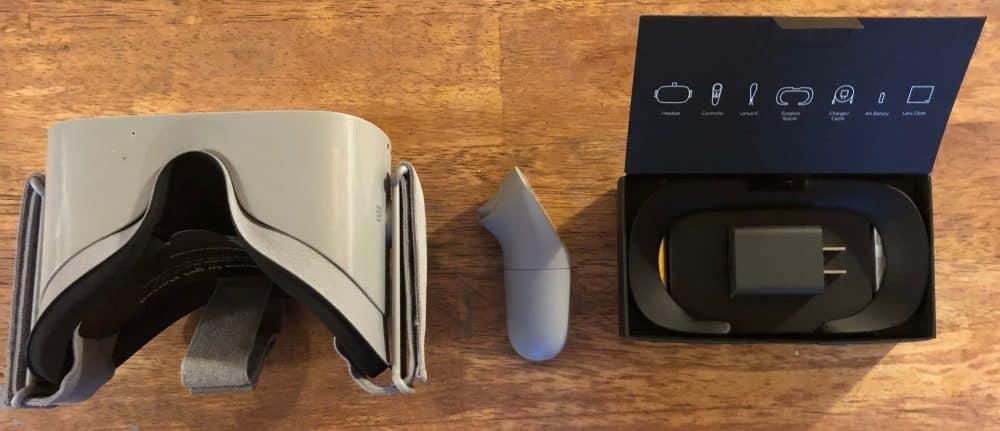 Headset, controller en stekker