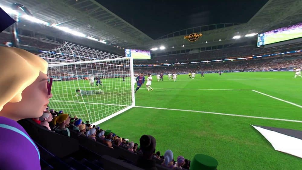 Voetbalwedstrijd bekijken